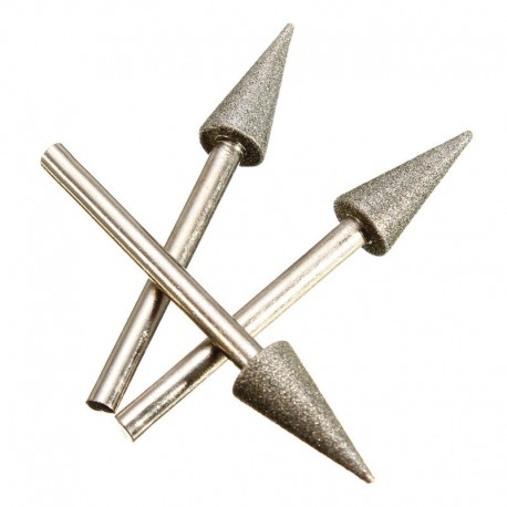 Frez ściernica diament stożek 8 mm wiertło DREMEL
