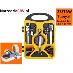 Zestaw Kluczy płasko-oczkowy z grzechotką i przegubem 7cz. (8 - 19mm) Katalog   Produkty
