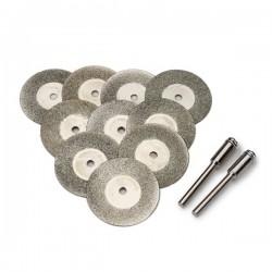 Zestaw tarcz diamentowych 50 mm do szlifierek typu Dremel