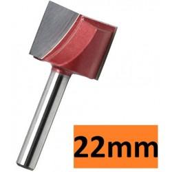 Frez do planowania 22mm chwyt 6mm 3D VHM węglik
