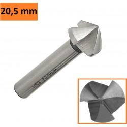 Frez pogłębiacz stożkowy fazownik HSS 6,3 mm