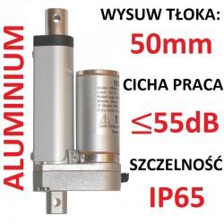 SIŁOWNIK ELEKTRYCZNY 12V SILNIK LINIOWY 50mm 450N