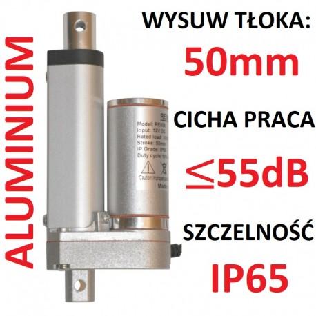 SIŁOWNIK ELEKTRYCZNY 12V SILNIK LINIOWY 50mm 1000N