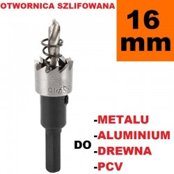 Otwornica Szlifowana HSS 16mm do metalu, drewpa, PCV