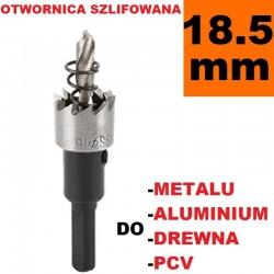 Otwornica Szlifowana HSS 18.5mm do metalu, drewpa, PCV