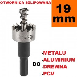 Otwornica Szlifowana HSS 19.1mm do metalu, drewpa, PCV
