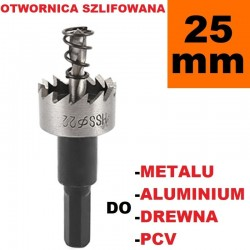 Otwornica Szlifowana HSS 25mm do metalu, drewpa, PCV