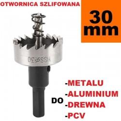 Otwornica Szlifowana HSS 30mm do metalu, drewpa, PCV