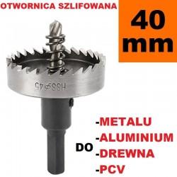 Otwornica Szlifowana HSS 40mm do metalu, drewpa, PCV