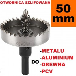 Otwornica Szlifowana HSS 50mm do metalu, drewpa, PCV