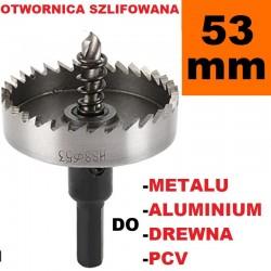 Otwornica Szlifowana HSS 53mm do metalu, drewpa, PCV