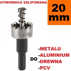 Otwornica Szlifowana HSS 20mm do metalu, drewpa, PCV