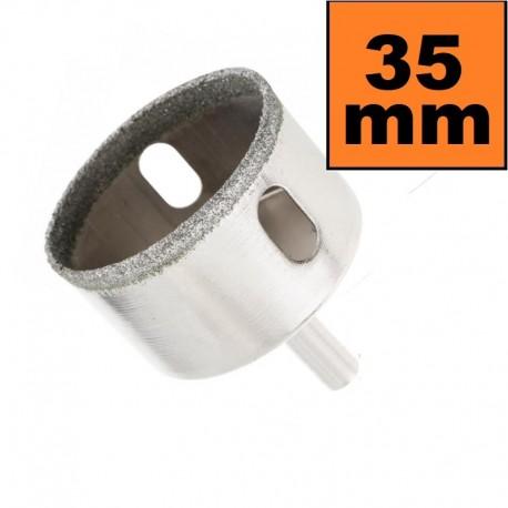 Otwornica diamentowa 35 mm Wiertło do GRESU Płytek