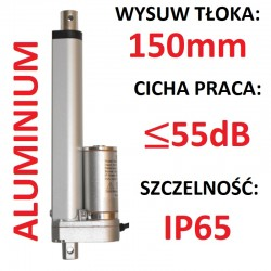 SIŁOWNIK ELEKTRYCZNY 12V SILNIK LINIOWY 150mm 1000N