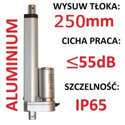 SIŁOWNIK ELEKTRYCZNY 12V SILNIK LINIOWY 250mm 600N