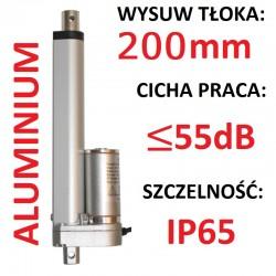 SIŁOWNIK ELEKTRYCZNY 12V SILNIK LINIOWY 200mm 1000N