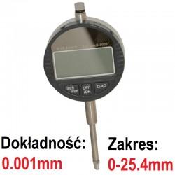 Czujnik zegarowy elektroniczny 0.001 25,4mm Cyfrowy