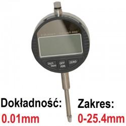 Czujnik zegarowy elektroniczny 0.01 25,4mm Cyfrowy