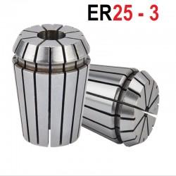 Tuleja zaciskowa ER25 FI 3 tulejka precyzyjna CNC