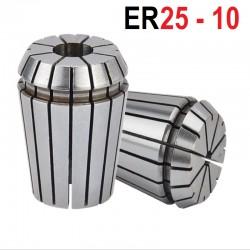 Tuleja zaciskowa ER25 FI 10 tulejka precyzyjna CNC