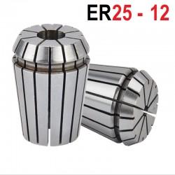Tuleja zaciskowa ER25 FI 12 tulejka precyzyjna CNC