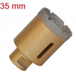 OTWORNICA KORONKA DIAMENTOWA 35mm  M14 wiertło