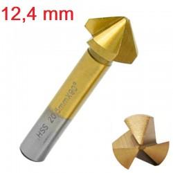 Frez pogłębiacz stożkowy fazownik HSS 12,4