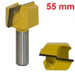 Frez VHM do planowania 55 mm / 12.7 mm drewno mdf