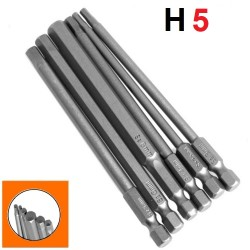 Bity długie HEX H5x100mm