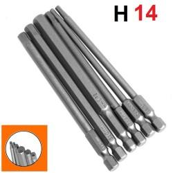 Bity długie magnetyczny HEX H14 x100mm