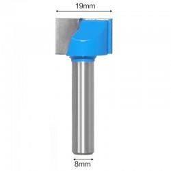 Frez VHM do planowania 19mm chwyt 8mm drewno mdf