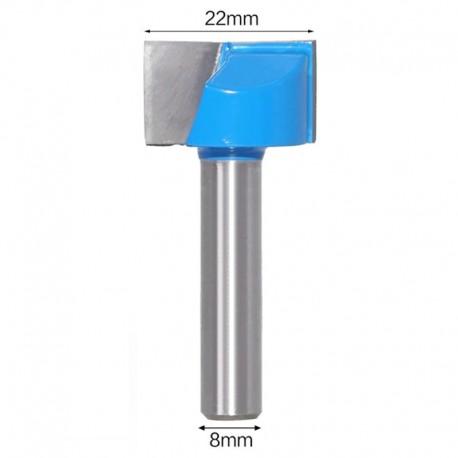 Frez VHM do planowania 22mm chwyt 8mm drewno mdf