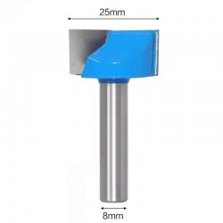 Frez VHM do planowania 25mm chwyt 8mm drewno mdf