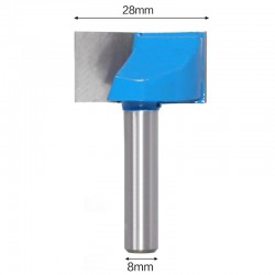 Frez VHM do planowania 28mm chwyt 8mm drewno mdf
