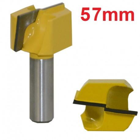 Frez VHM do planowania 57mm chwyt 12,7mm drewno mdf