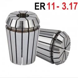 Tuleja zaciskowa ER11 FI 3.175 tulejka precyzyjna CNC