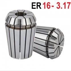 Tuleja zaciskowa ER16 FI 3.175 mm tulejka precyzyjna CNC