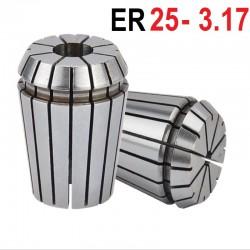 Tuleja zaciskowa ER25 FI 3.175 mm tulejka precyzyjna CNC
