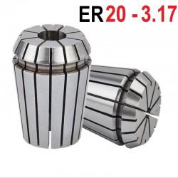 Tuleja zaciskowa ER20  Fi 3,175 mm tulejka precyzyjna CNC