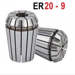 Tuleja zaciskowa ER20  Fi 9 mm tulejka precyzyjna CNC