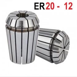 Tuleja zaciskowa ER20  Fi 12 mm tulejka precyzyjna CNC