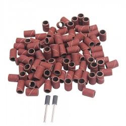 Taśma szlifierska gr.240 100 szt 2 trzpienie 9,6mm