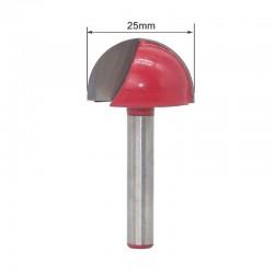 Frez kulisty VHM 3D  25mm chwyt 6mm